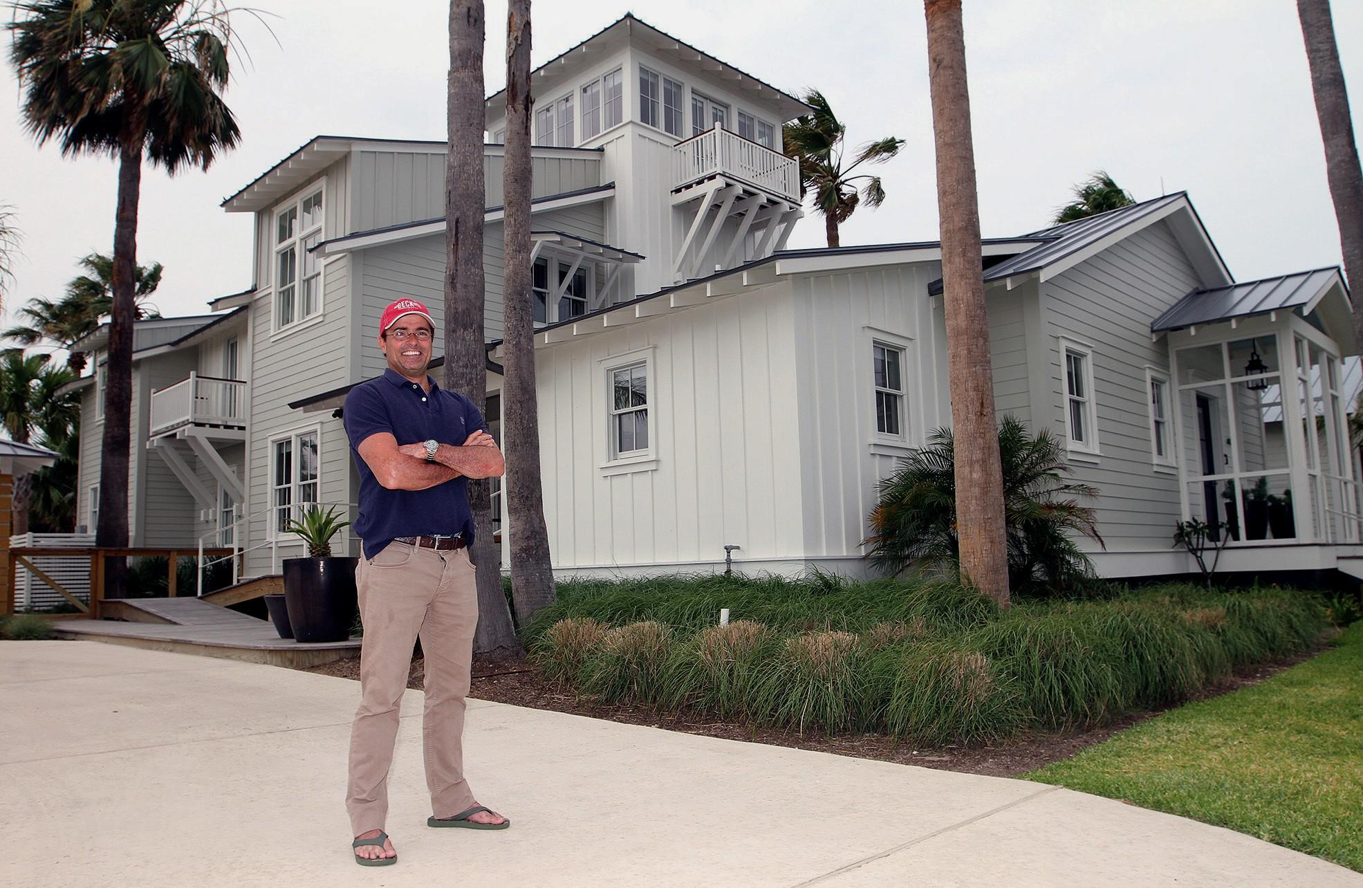 Rick Liberto Stands On His Family Property Tarrant Street In Port Aransas Thursday
